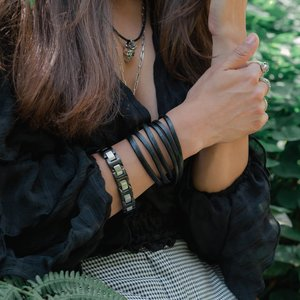 armband Staal PVD laag (zwart)