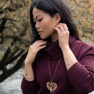 armband Staal PVD laag (goudkleurig) Jade hart liefde