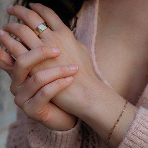 Armband Edelstahl PVD Beschichtung (goldfarbig)