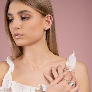Ohrhänger Messing rhodiniert Herz Liebe