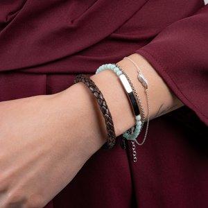 Armband Edelstahl Amazonit