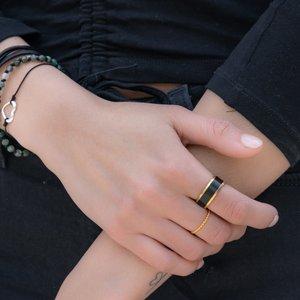 Titanring Titan PVD Beschichtung (schwarz) PVD Beschichtung (goldfarbig)
