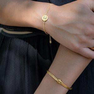 Armreif Edelstahl PVD Beschichtung (goldfarbig) Knoten