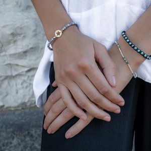 Armband Edelstahl Ozean Jaspis Stern
