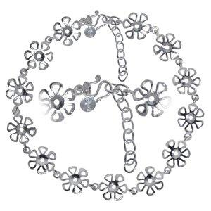 Chaînette de pied Argent 925 Fleur