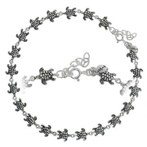 Anklet Silver 925 Turtle Tortoise