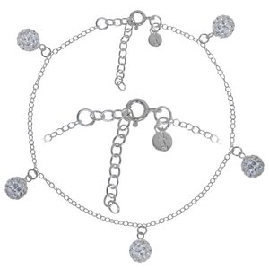 Anklet for children Crystal Silver 925