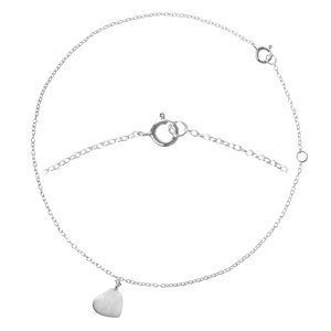 Anklet Silver 925 Heart Love