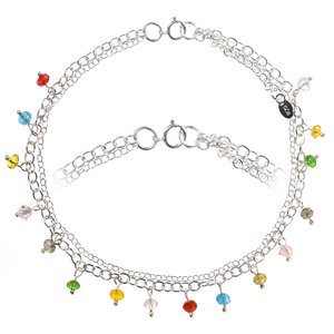 Anklet Silver 925 Acrylic glass