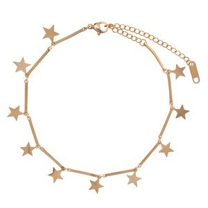 Anklet Stainless Steel PVD-coating (gold color) Star
