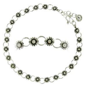 Fusskettchen Silber 925 Blume Ewig Schlaufe Endlos
