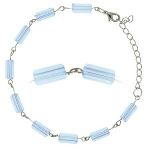 Anklet Steel Acrylic glass