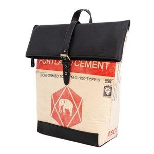 elephbo bolso Saco de cemento reciclado de plástico tejido Cuero sintético Ganesha Elefante
