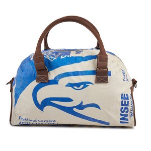 elephbo bag Recycled cement bag made of woven plastic Leather Cotton Eagle Bird Stork