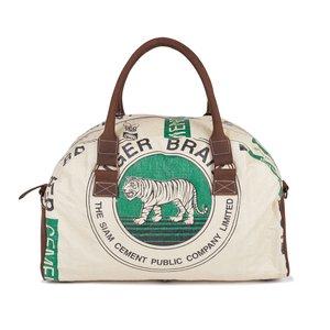 elephbo Tasche Recycelter Zementsack aus gewebtem Kunststoff Leder Baumwolle Raubkatze Tiger Löwe
