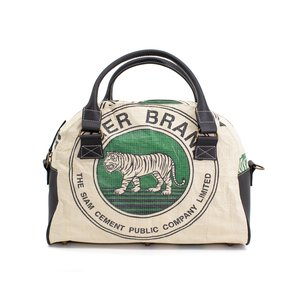 elephbo bag Recycled cement bag made of woven plastic Leather Cotton Tiger lion leopard