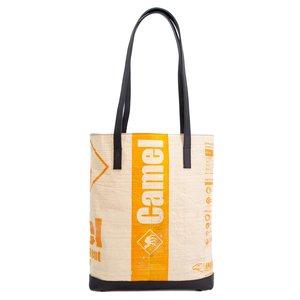 elephbo Tasche Recycelter Zementsack aus gewebtem Kunststoff Leder Tierfell Tiermuster Fellmuster