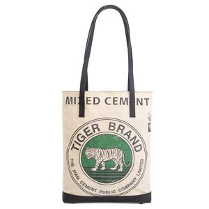 elephbo bag Recycled cement bag made of woven plastic Leather Tiger lion leopard