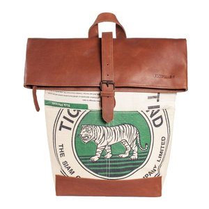 elephbo bag Recycled cement bag made of woven plastic Vegetable tanned cowhide Tiger lion leopard