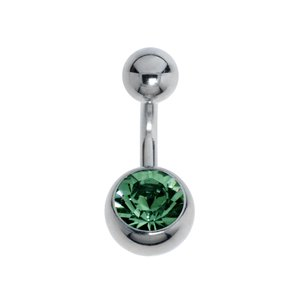 Bellypiercing Surgical Steel 316L zirconia