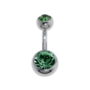 Piercing nombril Acier chirurgical 316L Zircon