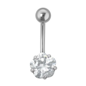Bellypiercing Surgical Steel 316L zirconia Flower