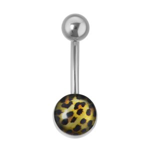Bellypiercing Surgical Steel 316L Epoxy Fur Fur_pattern Animal_Print