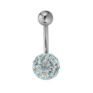 Bellypiercing Surgical Steel 316L Crystal