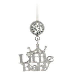 Pregnancy-piercing Surgical Steel 316L Crystal Bioplast steel-plated brass Letter Character Number