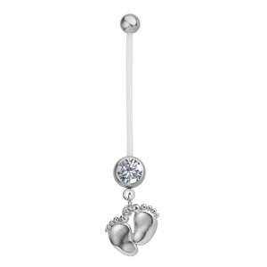 Pregnancy-piercing Surgical Steel 316L Crystal Bioplast steel-plated brass Foot