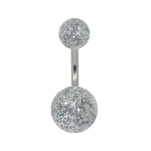 Bellypiercing Surgical Steel 316L Acrylic glass