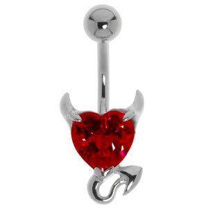 Bellypiercing Surgical Steel 316L zirconia Devil