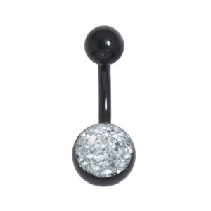 Bellypiercing Surgical Steel 316L Black PVD-coating Epoxy