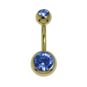 Piercing nombril Acier zirconium Cristal