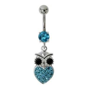 Bellypiercing Surgical Steel 316L Owl