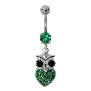 Piercing nombril Acier chirurgical 316L Chouette Hibou Grand_duc