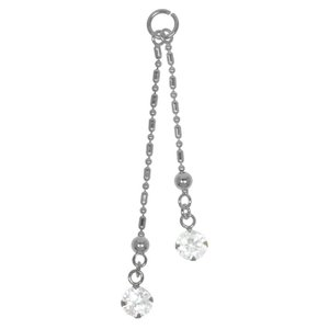 Belly piercing pendant Silver 925 Crystal