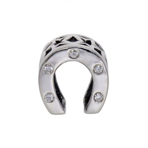Bead Silver 925 Crystal Horseshoe Horse shoe
