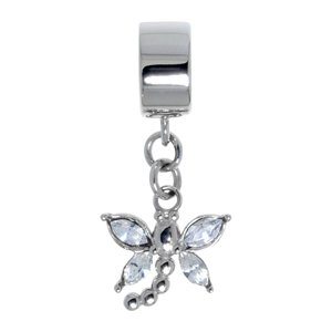 Bead Stainless Steel zirconia Dragonfly