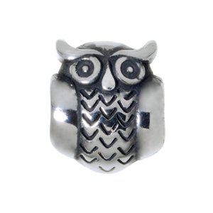 Bead Stainless Steel Owl
