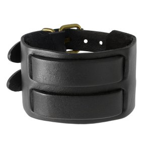 armband Leer Staal