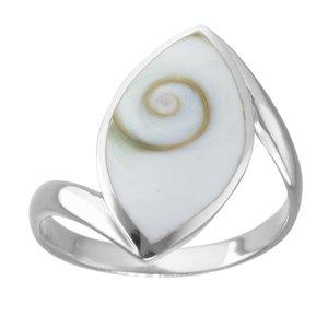 Anillo plata Plata 925 Concha Ojo de Shiva Espiral