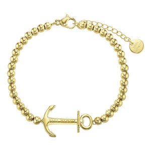 PAUL HEWITT Bracelet Stainless Steel PVD-coating (gold color) Anchor rope ship