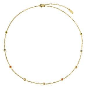 PAUL HEWITT Pendente catena Rivestimento PVD (colore oro) Acciaio inox Zircone