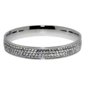Armlet Stainless Steel Swarovski crystal Epoxy