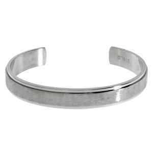 Bracelet rigide Acier inoxydable Cristal