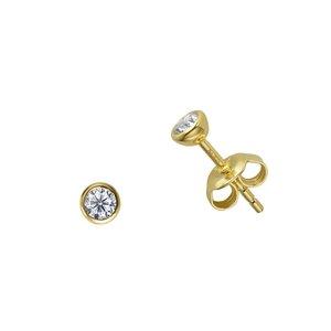 Esprit Ohrstecker Silber 925 PVD Beschichtung (goldfarbig) Zirkonia
