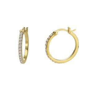 Esprit Ohrhänger Silber 925 PVD Beschichtung (goldfarbig) Zirkonia
