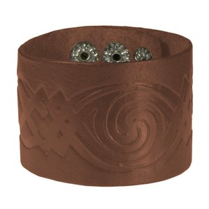 Bracciale Pelle Disegno_tribal Motivo_tribal Spirale