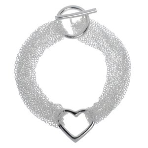 Bracelet silver-plated brass Heart Love